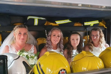 Our fire engines are perfect to carry your wedding party
